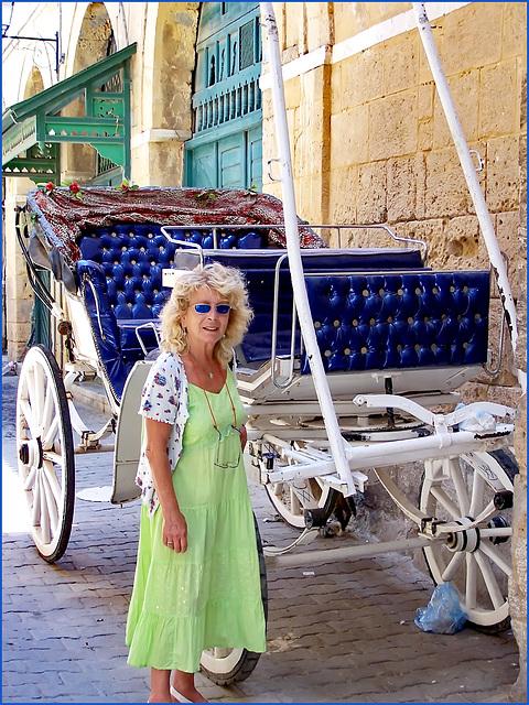 Tunisi : nella Medina una splendida antica carrozza