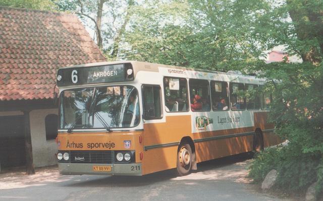 Århus (Aarhus) Sporveje 211 (KT 88 991) at Moesgaard Museum – 26 May 1988 (Ref: 67-04)