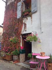 L'automne gagne les façades .