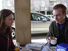 Kate & Jon after some cheekiness...