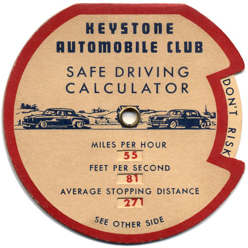 Keystone Automobile Club Safe Driving Calculator