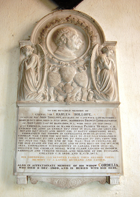 Monument to General Sir Charles Trollope, Uffington Church, Lincolnshire