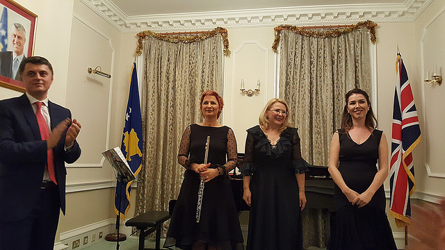 Ambassador and performers