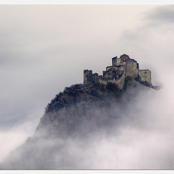 La Sacra di San Michele tra le nubi - Abbey Sacra di San Michele in the clouds
