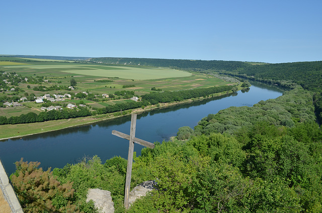 "Moldova, The Dniester River from the Tower ""The Candle of Gratitude"""