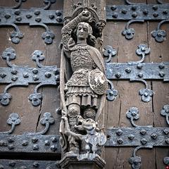 Detail am Portal Hôtel de Ville de Bruxelles