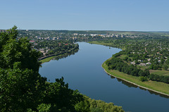 """Moldova, The Dniester River from the Tower """"The Candle of Gratitude"""""""
