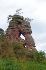 der Schillerfelsen am Rand von Dahn