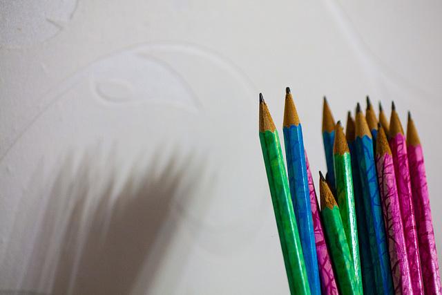 Kegelsammlung oder Bleistiftspitzen