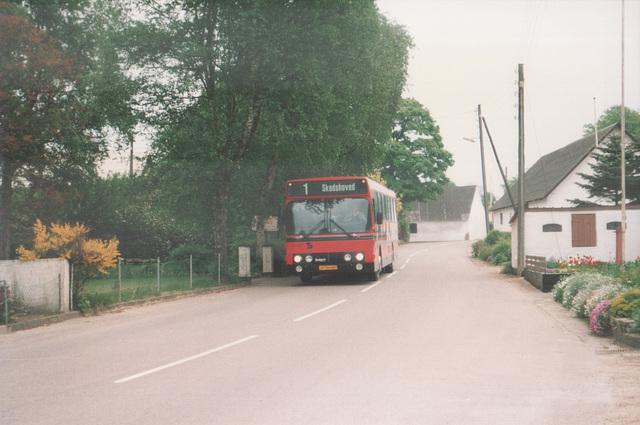 Sechers Rutebiler 4 (JP 94 487) at  Tved - May/June 1988 (Ref: DK28)