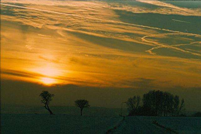 Last winterday sunset