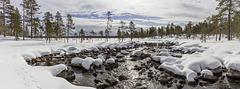 Creek Pakajoki and Lake Pakajärvi