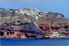 Santorini : Oia vista dal mare - (963)