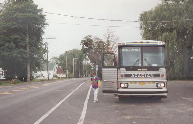 Acadian Lines 115 at Middleton - 11 Sep 1992 (Ref 177-28)