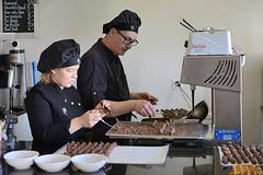 A la chocolaterie artisanale de Gruyères ....