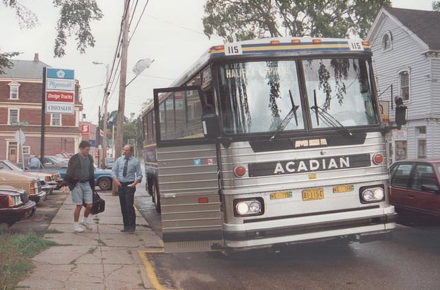 Acadian Lines 115 at Bridgetown  - 11 Sep 1992 (Ref 177-25)