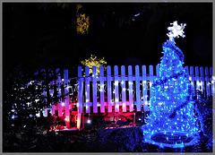Illuminations de Noel dans le parc de Châteauneuf d'ille et vilaine (35)