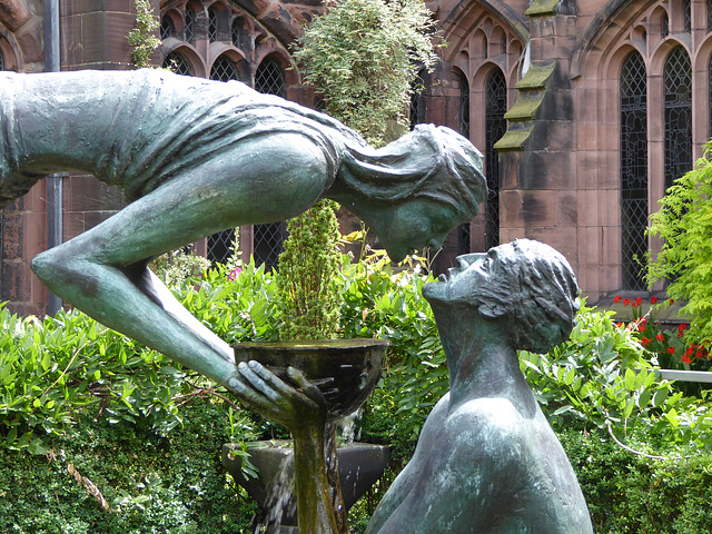 Garth/Water of Life Statue, Chester Cathedral, Cheshire.