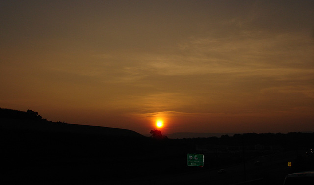 Dark sunset in Virginia