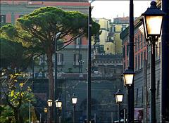 Napoli : 7 lampioni + 3 davanti al palazzo reale - (739)