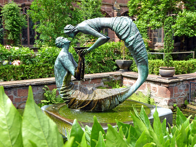 Garth/ Water of Life Statue, Chester Cathedral, Cheshire.