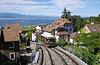 Thonon-les-Bains (74) 25 août 2010. Le funiculaire reliant la ville haute au lac Léman.