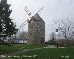 Moulin à vent à Saint-Grégoire de Bécancour 1880
