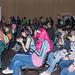 Das Publikum erwartet Cosplay-Defilee