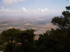 Overlooking the valley, 700 metres below.
