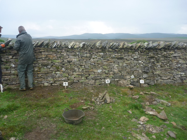 My stint 9-10, FofTLD dry stone walling competition, Little Asby