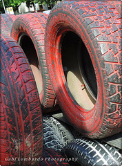 a tyre wall