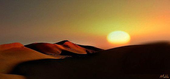 Coucher sur dune