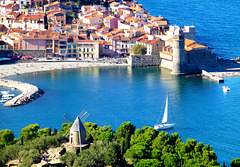 FR - Collioure - View from Fort Saint Elme