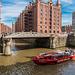 Canal Cruise in Hamburg's Warehouse District- Fleetfahrt in der Speicherstadt (090°)
