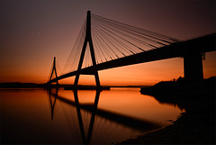 Ponte Internacional do Guadiana, sunset