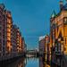 Canal in Hamburg's Warehouse District - Wandrahmsfleet in der Speicherstadt (075°)