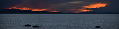 Bolivia, Sunset over Lake of Titicaca