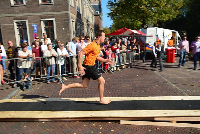 Leidens Ontzet 2014 – Fierljeppen – Run-up
