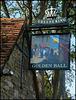Golden Ball pub sign