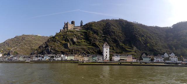 Burg Katz und der Mäuse Turm am Rhein