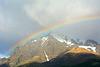 Chile, Rainbow over Cerro Almirante Nieto (2640m)