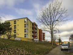 Neu errichtetes Seniorenheim an der Burkhardtsdorfer Straße