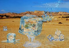 Hielo en el desierto