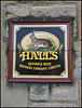 Hall's Brewery sign