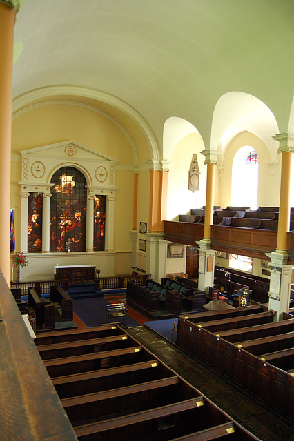 View from the gallery of West Front, St Paul's Church, St Paul's Square, Birmingham, West Midlands