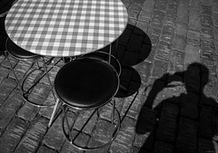 photographing chairs and  a table