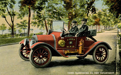The Fire Chief's Studebaker-Flanders Roadster, Harrisburg, Pa., ca. 1914
