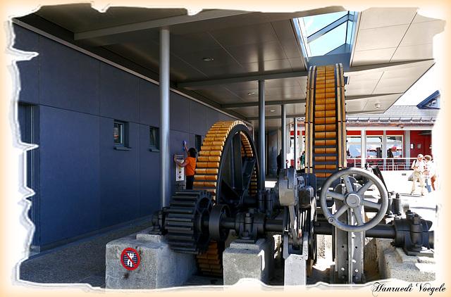 Räderwerck des Antriebes der alten Stanserhornbahn von der 3 Sektion  auf dem Alten Fundamend