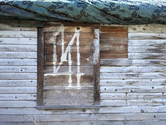 Shed with symbol