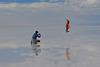 Bolivia, Salar de Uyuni, Catch in a Jump